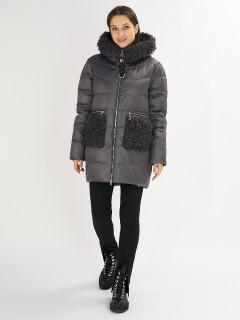 Купить оптом женскую зимнюю классическую куртку в интернет магазине MTFORCE 72180TC