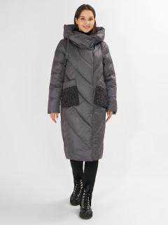 Купить оптом женскую зимнюю классическую куртку в интернет магазине MTFORCE 72185TC