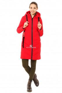 Купить оптом куртку женскую зимнюю молодежную красного цвета 7253Kr в интернет магазине MTFORCE.RU
