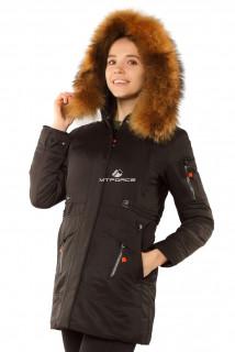 Купить оптом куртку парку женскую зимнюю черного цвета 7356Ch в интернет магазине MTFORCE.RU