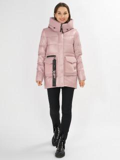 Купить оптом женскую зимнюю молодежную куртку в интернет магазине MTFORCE 7389R