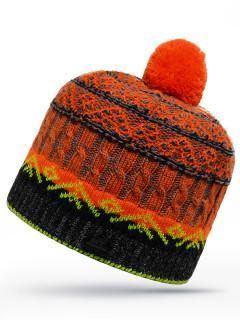 Купить оптом шапку оранжевого цвета в интернет магазине MTFORCE 6023O
