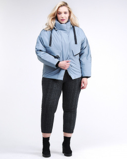 Фабрика производитель MTFORCE предлагает купить оптом женскую зимнюю классику куртку большого размера серого цвета по выгодной и доступной цене с доставкой в городе *город*, а так же по всей России и СНГ. Артикул товара 74-903_2Sr