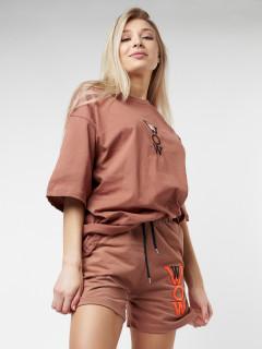 Купить костюм шорты и футболку женские оптом от производителя в Москве 22109Bl