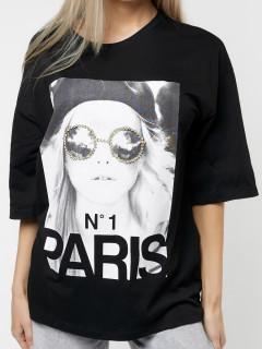 Купить футболки с принтом женские оптом от производителя в Москве 76110Ch