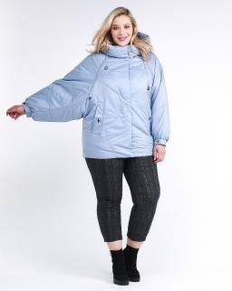 Купить оптом женскую зимнюю классику куртку большого размера голубого цвета в интернет магазине MTFORCE 78-902_2Gl