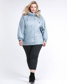 Купить оптом женскую зимнюю классику куртку большого размера серого цвета в интернет магазине MTFORCE 78-902_3Sr