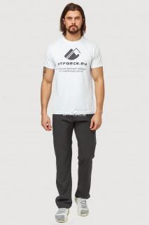 Купить оптом брюки спортивные мужские темно-серого цвета 7809TС в интернет магазине MTFORCE.RU