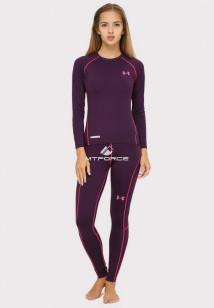 Купить оптом термобелье женское темно-фиолетового цвета 8010TF в интернет магазине MTFORCE.RU