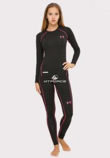 Купить оптом термобелье женское черного цвета 8010Ch в интернет магазине MTFORCE.RU