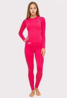 Купить оптом термобелье женское розового цвета 8010R в интернет магазине MTFORCE.RU