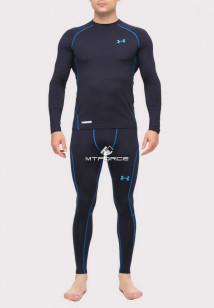 Купить оптом термобелье мужское темно-синего цвета 8011TS в интернет магазине MTFORCE.RU