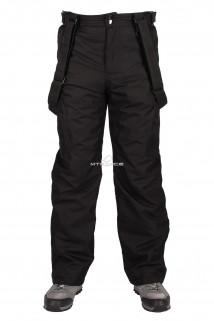 Купить оптом брюки горнолыжные мужские черного цвета 809Ch в интернет магазине MTFORCE.RU