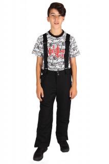 Купить оптом брюки горнолыжные подростковые для мальчика черного цвета 817Ch в интернет магазине MTFORCE.RU