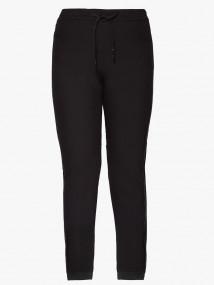 Спортивные мужские брюки осенние весенние черного цвета купить оптом в интернет магазине MTFORCE 00818Ch