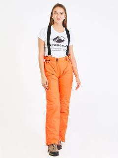 Горнолыжные брюки женские зимние оранжевого цвета купить оптом в интернет магазине MTFORCE 818O