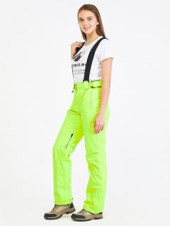 Горнолыжные брюки женские зимние салатового цвета купить оптом в интернет магазине MTFORCE 818Sl