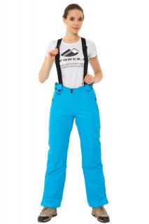 Купить оптом брюки горнолыжные женские синего цвета 818S в интернет магазине MTFORCE.RU
