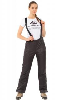 Купить оптом брюки горнолыжные женские темно-серого цвета 818TC в интернет магазине MTFORCE.RU