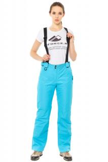 Купить оптом брюки горнолыжные женские голубого цвета 818Gl в интернет магазине MTFORCE.RU