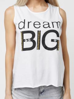 Купить футболки без рукавов женские оптом от производителя дешево 8219Bl
