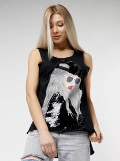 Купить футболки без рукавов женские оптом от производителя дешево 8252Bl