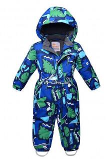 Купить оптом комбинезон горнолыжный детский синего цвета 8703S в интернет магазине MTFORCE.RU