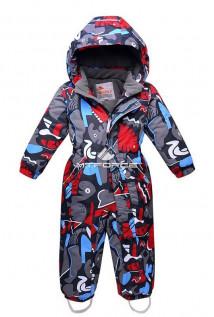 Купить оптом комбинезон горнолыжный детский серого цвета 8703Sr в интернет магазине MTFORCE.RU