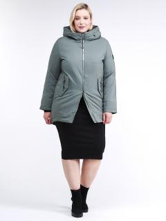 Фабрика производитель MTFORCE предлагает купить оптом женскую зимнюю классику куртку большого размера цвета хаки по выгодной и доступной цене с доставкой в городе *город*, а так же по всей России и СНГ. Артикул товара 86-801_7Kh