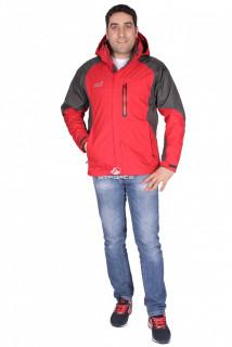 Купить оптом куртка мужская три в одном красного цвета 86249Kr в интернет магазине MTFORCE.RU