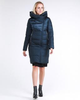 Купить оптом женскую зимнюю молодежную куртку стеганную темно-зеленного цвета в интернет магазине MTFORCE 870_03TZ