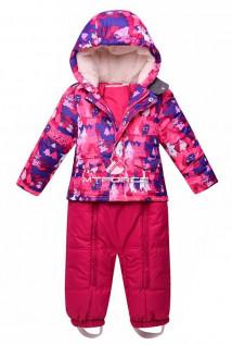 Купить оптом костюм горнолыжный детский розового цвета 8701R в интернет магазине MTFORCE.RU