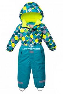 Купить оптом комбинезон горнолыжный детский бирюзового цвета 8702Br в интернет магазине MTFORCE.RU