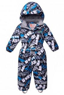 Купить оптом комбинезон горнолыжный детский синего цвета 8705S в интернет магазине MTFORCE.RU