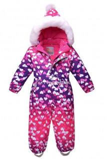 Купить оптом комбинезон горнолыжный детский фиолетового цвета 8706F в интернет магазине MTFORCE.RU