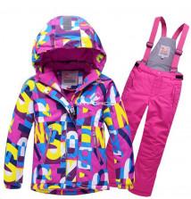 Купить оптом костюм горнолыжный подростковый розового цвета 8715R в интернет магазине MTFORCE.RU