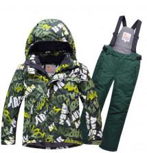 Купить оптом костюм горнолыжный для мальчика хаки цвета 8717Kh в интернет магазине MTFORCE.RU
