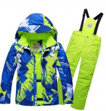 Купить оптом костюм горнолыжный для девочки салатового цвета 8730Sl в интернет магазине MTFORCE.RU