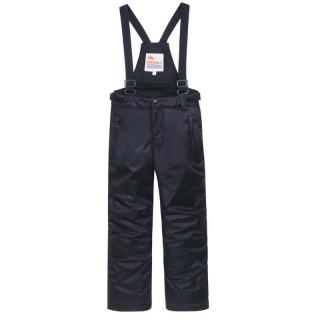 Горнолыжные брюки подростковые для мальчика зимние черного цвета купить оптом в интернет магазине MTFORCE 8735Ch