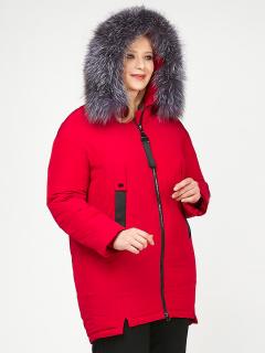 Купить оптом женскую зимнюю молодежную куртку большого размера красного цвета в интернет магазине MTFORCE 88-953_30Kr