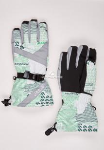 Купить оптом перчатки мужские горнолыжные серого цвета 88061Sr в интернет магазине MTFORCE.RU