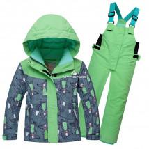 Купить оптом детский горнолыжный костюм зеленого цвета недорого по цене от 1000 руб в интернет магазине MTFORCE.ru! Роста от 86 до 116 в наличии! БЕСПЛАТНАЯ доставка в город Москва! Фото зеленый детский горнолыжный костюм и отзывы покупателей к товару 8812Z