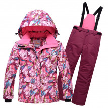 Оптом горнолыжный костюм подростковый для девочки купить недорого в Москве в интернет магазине MTFORCE 8818R