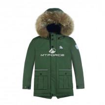 Купить оптом куртку парку зимнию подростковую для мальчика  цвета хаки 8831Kh в интернет магазине MTFORCE.RU
