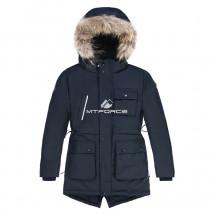 Купить оптом куртку парку зимнию подростковую для мальчика черного цвета 8833Ch в интернет магазине MTFORCE.RU
