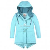Купить оптом куртку парку зимнию подростковую для девочки голубого цвета 8834Gl в интернет магазине MTFORCE.RU