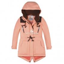 Купить оптом куртку парку зимнию подростковую для девочки персикового цвета 8834P в интернет магазине MTFORCE.RU