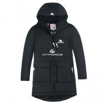 Купить оптом куртку парку зимнию подростковую для мальчика черного цвета 8835Ch в интернет магазине MTFORCE.RU