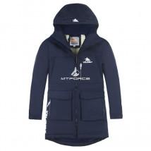 Купить оптом куртку парку зимнию подростковую для мальчика темно-синего цвета 8835TS в интернет магазине MTFORCE.RU