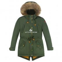 Купить оптом куртку парку зимнию подростковую для мальчика цвета хаки 8836Kh в интернет магазине MTFORCE.RU